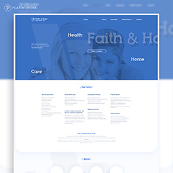 Faint & Hope web site mockup